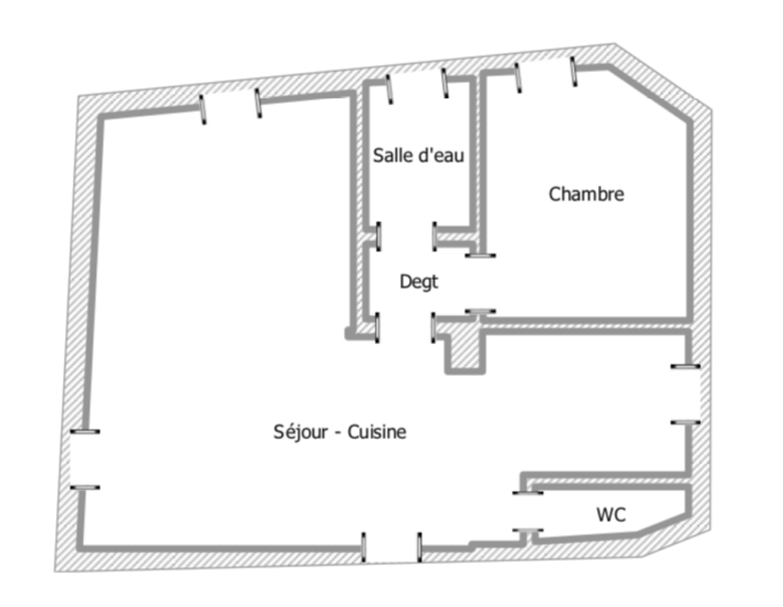 Plan de la maison de biarritz Les Halles