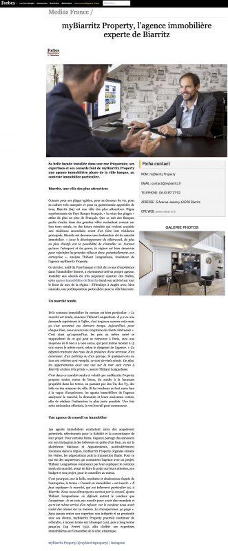 myBiarritz Property, l'agence immobilière experte de Biarritz